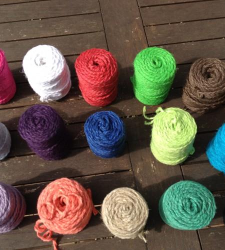 Hanf Kordel 1 Meter verschiedene Farben